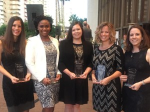 2015 ASCP 40 Under Forty Top Five: Amanda Wehler, Tiffany Channer, Jennifer Dawson, LeAnne Noll, and Kimberly Russell